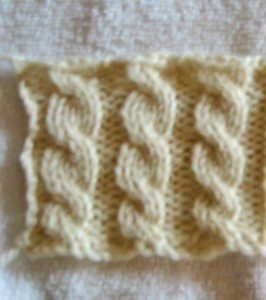 Front Cross Cable Stitches