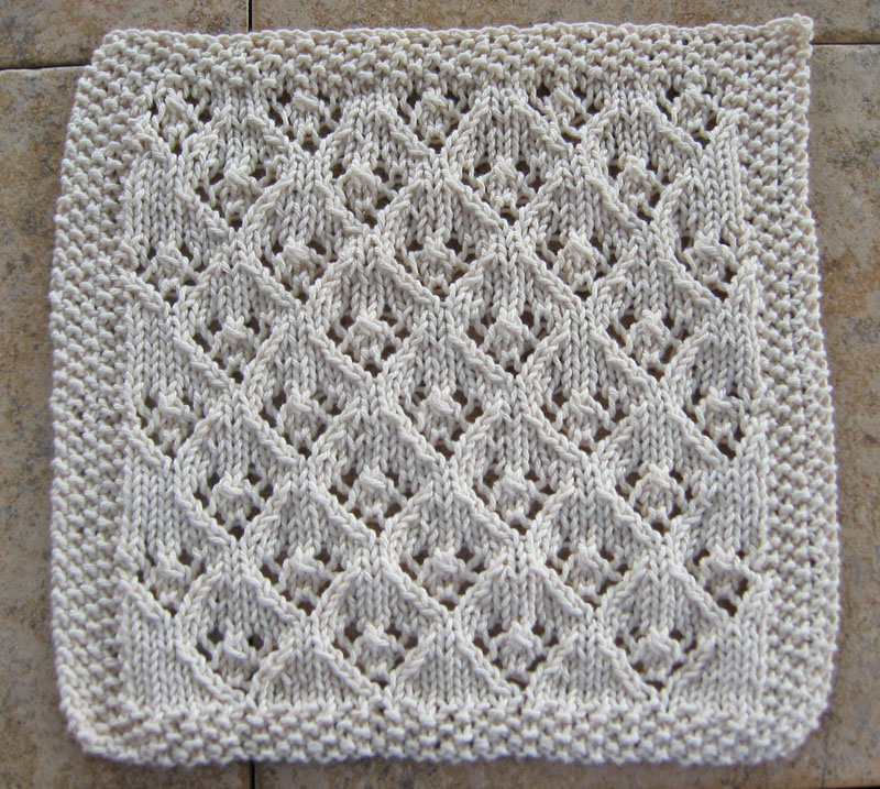 Simple Dishcloth Knitting Pattern : ElfinLace1