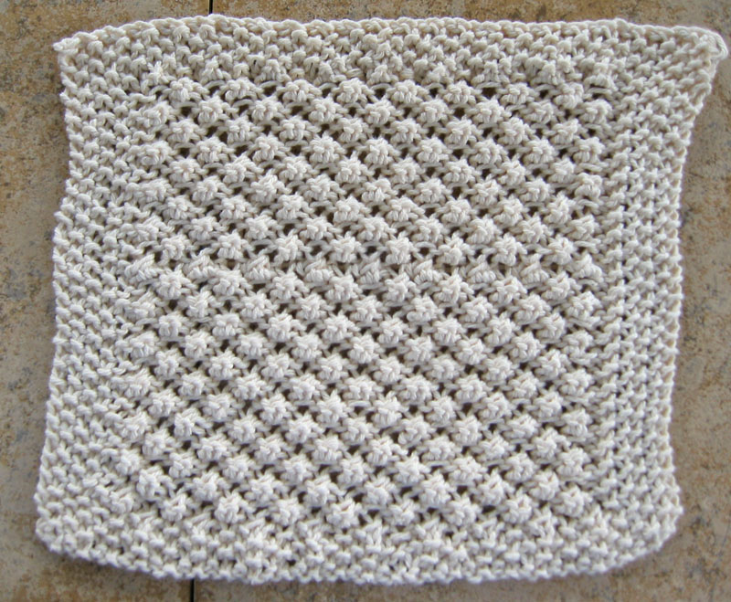 Lace Dishcloth Knitting Pattern : TrinityStitch1