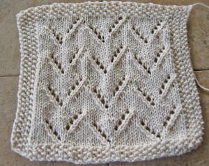 Zigzag Eyelet Dishcloth