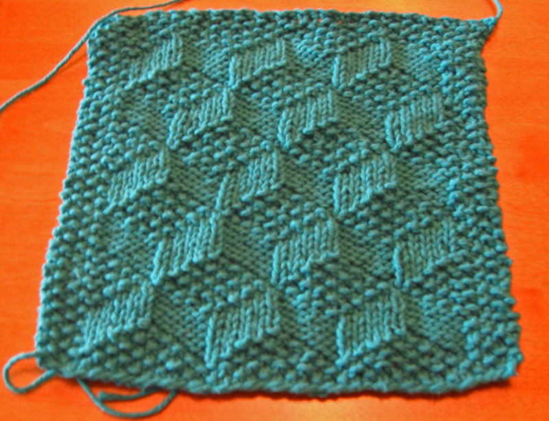 Knitting Patterns Squares : Slanted Squares Dishcloth