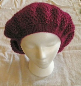 Beret in Bee Stitch