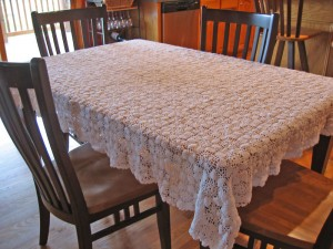 Tablecloth made from Mom's Motif